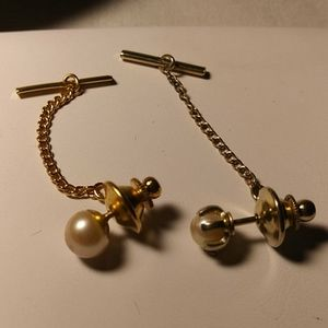 Pearl Tie Tacks Set of Two